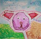 Happy Dog by Isabelle, age 7, Singapore